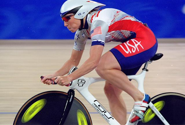 <p>Witty also represented the U.S. at the 2000 Games, competing in track cycling. (Getty) </p>