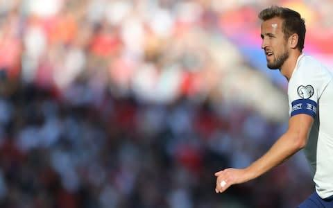 <span>Harry Kane's hat-trick took him to 25 international goals </span> <span>Credit: GETTY IMAGES </span>