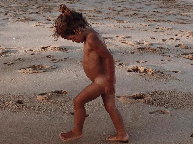 The photo showed Winter playing at the beach. Photo: Instagram/lifewithwinter