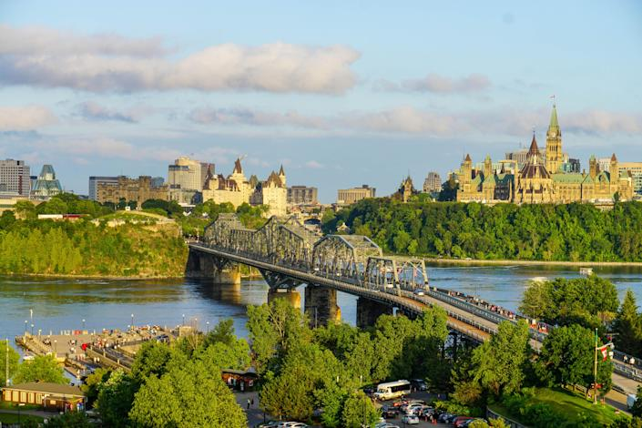 Views of Ottawa, Ontario and the Canadian parliament buildings. (Photo by: Matthew Bailey/VWPics/Universal Images Group via Getty Images)