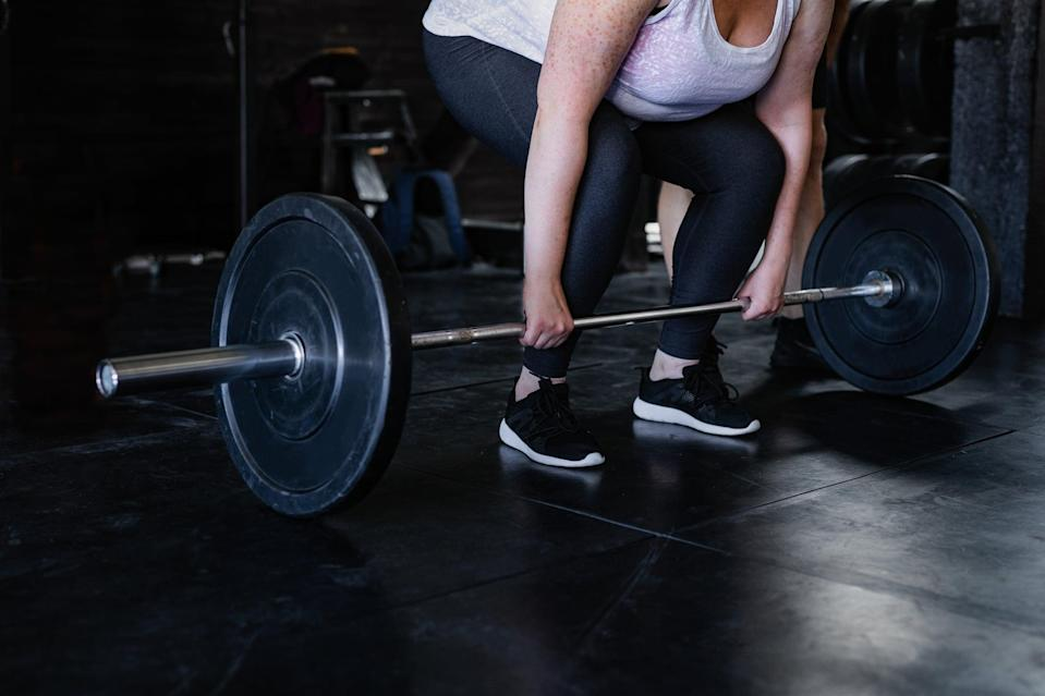 """<p>Cardio is essential for weight loss, but you shouldn't ignore strength training, either. Not only does lifting weights burn calories in and of itself, but building lean muscle will help you <a href=""""https://www.popsugar.com/fitness/Muscle-Burns-More-Calories-Than-Fat-44895516"""" class=""""link rapid-noclick-resp"""" rel=""""nofollow noopener"""" target=""""_blank"""" data-ylk=""""slk:burn more calories at rest"""">burn more calories at rest</a>. """"I would recommend two days of strength training a week of full-body exercises for maintenance,"""" he said.</p> <p>But if you're tracking your progress simply from the scale, you may not notice it budging much each week if you strength train more often. As you build muscle, it will <a href=""""https://www.popsugar.com/fitness/How-Do-I-Know-Im-Gaining-Muscle-Fat-46560968"""" class=""""link rapid-noclick-resp"""" rel=""""nofollow noopener"""" target=""""_blank"""" data-ylk=""""slk:change your body composition"""">change your body composition</a> but the number on the scale may stay the same. That's why it's important to <a href=""""https://www.popsugar.com/fitness/Best-Ways-Track-Weight-Loss-43945270"""" class=""""link rapid-noclick-resp"""" rel=""""nofollow noopener"""" target=""""_blank"""" data-ylk=""""slk:track your progress"""">track your progress</a> using other methods such as measurements, how your clothes fit, and <a href=""""https://www.popsugar.com/fitness/Screw-Scale-Transformations-44653640"""" class=""""link rapid-noclick-resp"""" rel=""""nofollow noopener"""" target=""""_blank"""" data-ylk=""""slk:before and after photos"""">before and after photos</a>.</p>"""