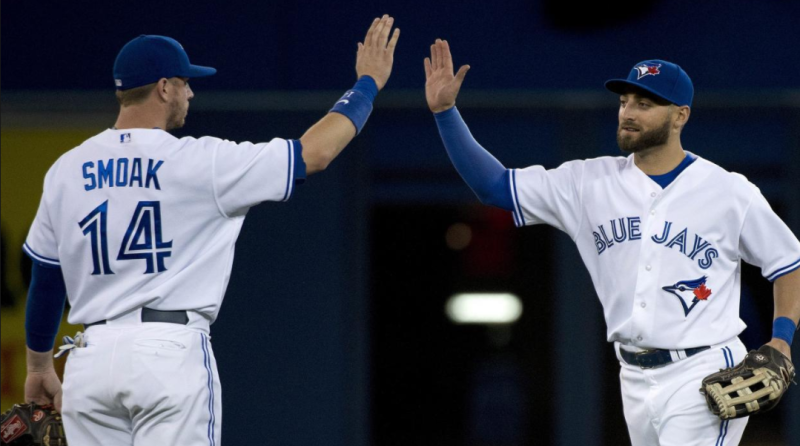 Kevin Pillar (right) made it for us, can Justin Smoak (left) join him?