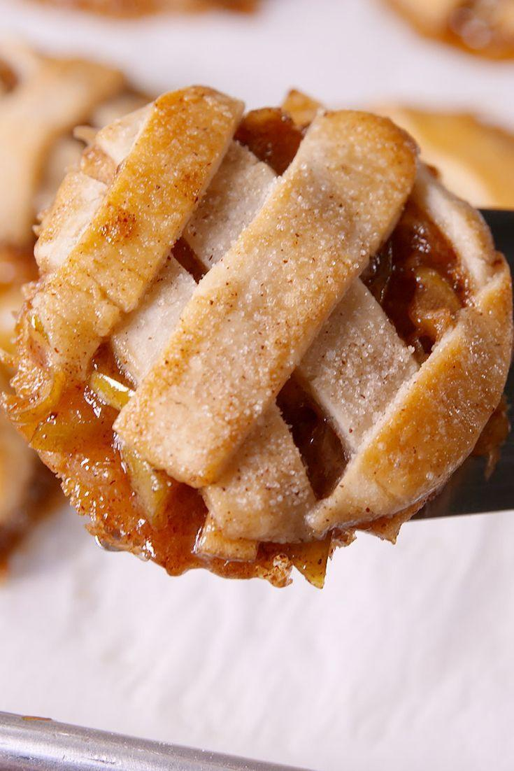 """<p>Nothing is more American than apple pie, and these precious bite-sized apple pies taste just as good as the real thing (but only take half the time to make!). </p><p><strong><em>Get the recipe for <a href=""""https://www.delish.com/cooking/recipe-ideas/recipes/a49160/apple-cutie-pies-recipe/"""" rel=""""nofollow noopener"""" target=""""_blank"""" data-ylk=""""slk:Apple Pie Cookies"""" class=""""link rapid-noclick-resp"""">Apple Pie Cookies</a>. </em></strong></p>"""