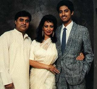 Jagjit and Chitra with son Vivek