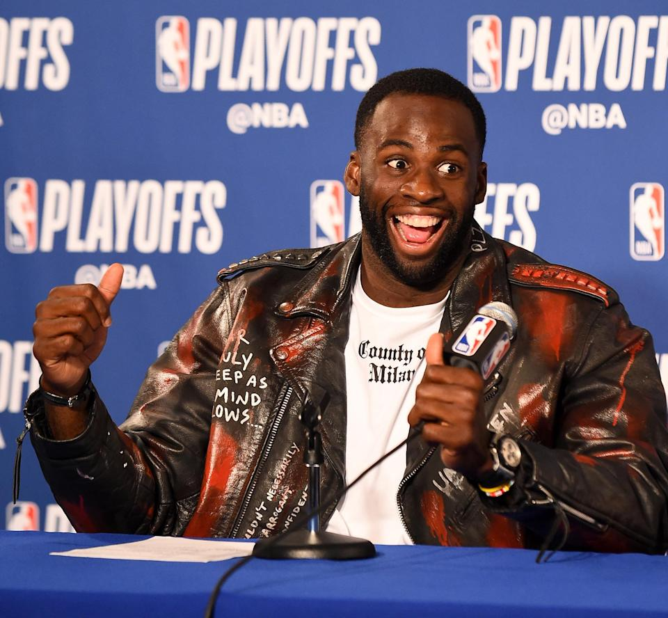 Draymond Green laughs at the idea that you think he and the Warriors really wanted the Rockets, which is funny, to him. (Getty)