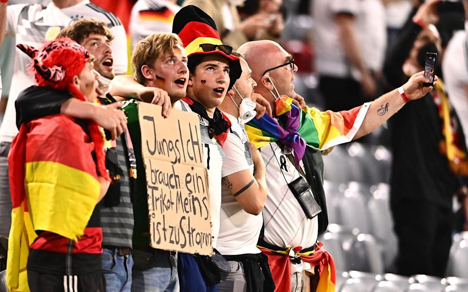 German fans can feel confident about playing England – they have a winning record against the Three Lions - EPA