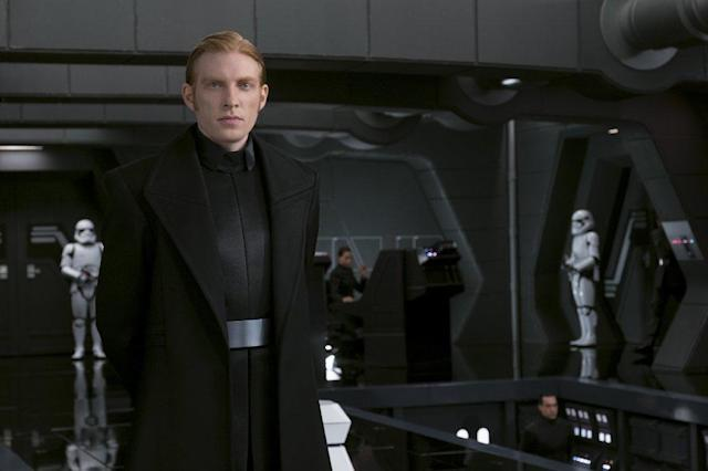 Domhnall Gleeson as General Hux in <em>The Last Jedi.</em> (Photo: Lucasfilm)