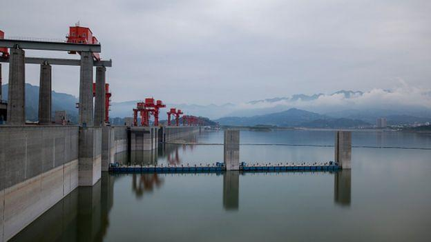 "The ""monster"" was spotted by the Three Gorges Dam (Reuters)"