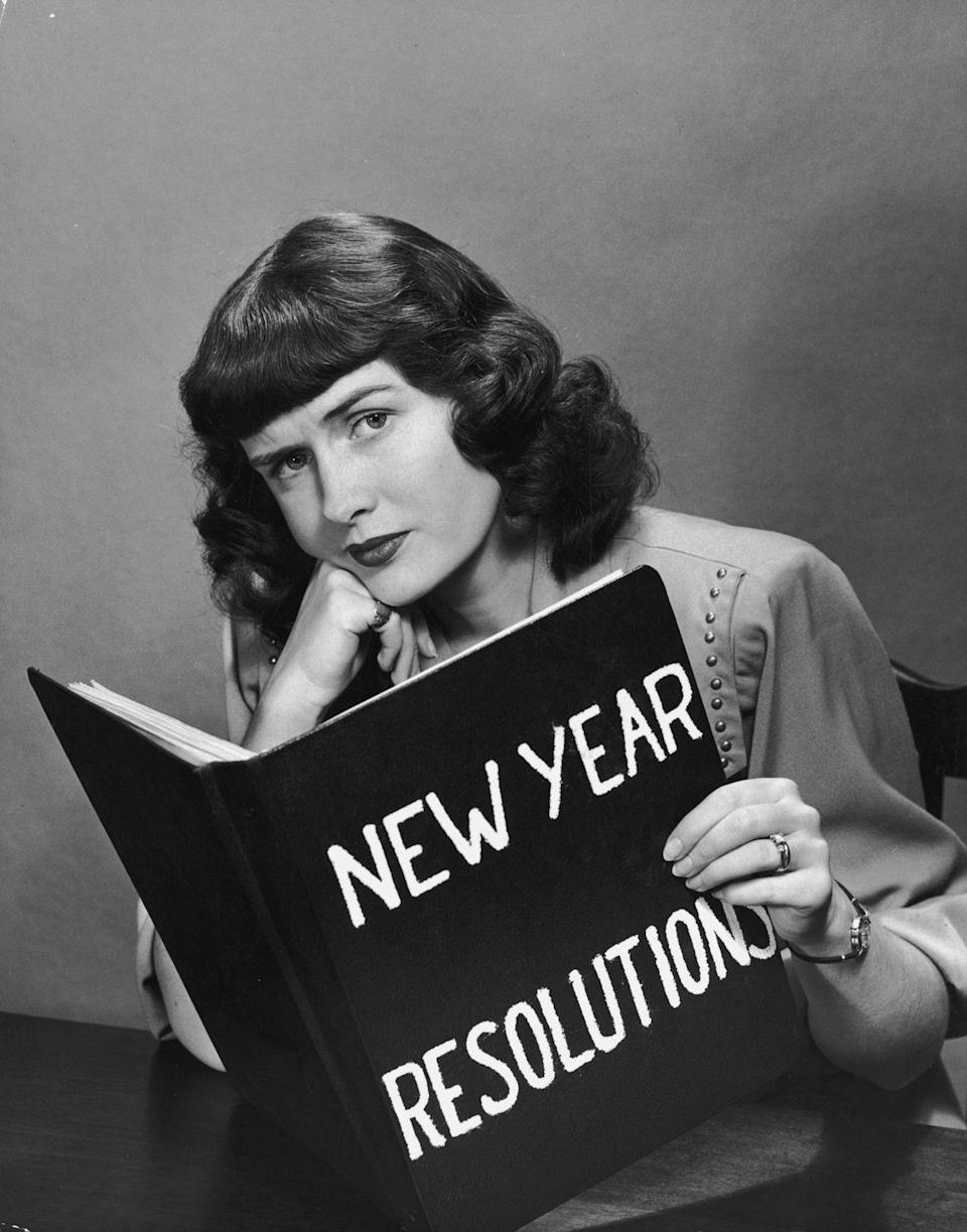 "<p>It wasn't all tinsel and tipples for good old Gram. Making resolutions is perhaps the most popular New Year's tradition, but previous generations in particular practiced the art of setting goals for the upcoming year. </p><p><a class=""link rapid-noclick-resp"" href=""https://www.amazon.com/New-Years-Resolution-Journal-Motivational/dp/197980379X?tag=syn-yahoo-20&ascsubtag=%5Bartid%7C10050.g.5075%5Bsrc%7Cyahoo-us"" rel=""nofollow noopener"" target=""_blank"" data-ylk=""slk:SHOP RESOLUTION JOURNALS"">SHOP RESOLUTION JOURNALS</a></p>"