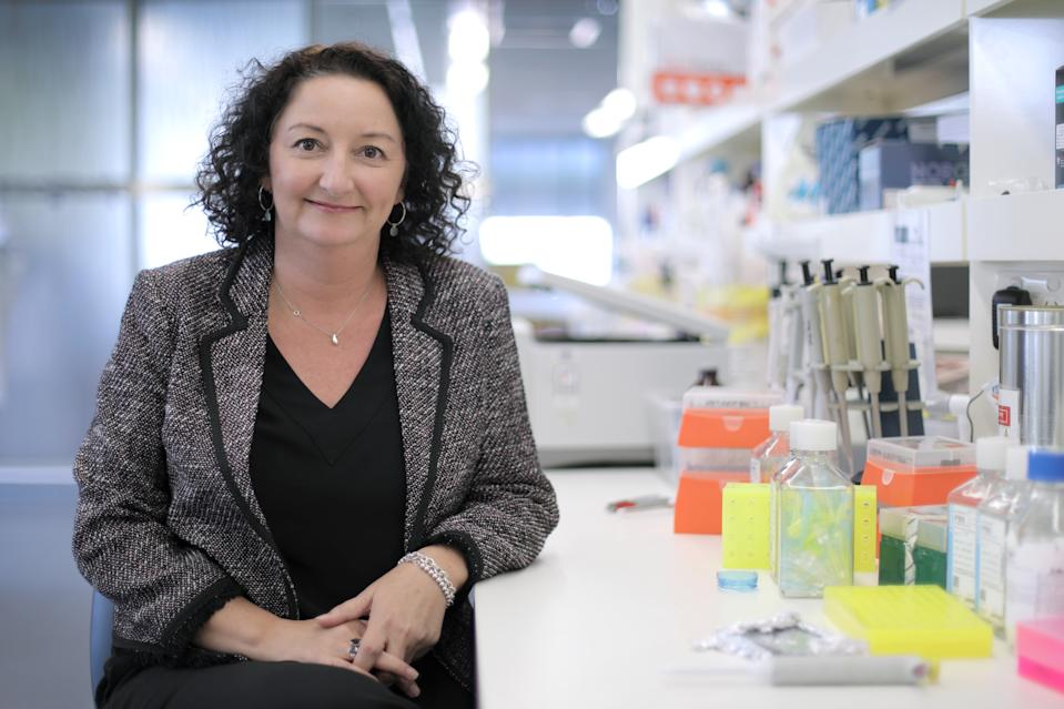 Megan Ford in a lab as the Executive Director of Clinical Trials at The Ingham Institute