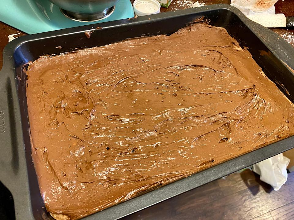 weed brownie frosted