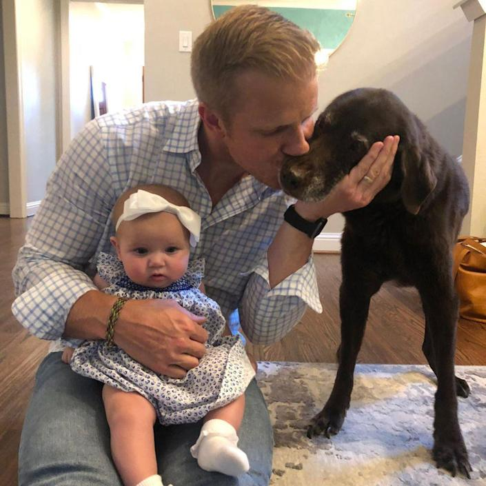 """<p>""""Before Catherine, before my kids, before all the Bachelor stuff, there was Ellie,"""" <em>Bachelor</em> star <a href=""""https://www.instagram.com/p/CLsHGGxFd_R/?utm_source=ig_embed"""" rel=""""nofollow noopener"""" target=""""_blank"""" data-ylk=""""slk:Sean Lowe wrote"""" class=""""link rapid-noclick-resp"""">Sean Lowe wrote</a> on Feb. 24 on Instagram after announcing that <a href=""""https://people.com/pets/sean-lowe-catherine-lowe-dog-ellie-dies/"""" rel=""""nofollow noopener"""" target=""""_blank"""" data-ylk=""""slk:he had said goodbye to his dog Ellie"""" class=""""link rapid-noclick-resp"""">he had said goodbye to his dog Ellie</a>.</p> <p>Wife Catherine also shared an <a href=""""https://www.instagram.com/p/CLuJS34AM5t/"""" rel=""""nofollow noopener"""" target=""""_blank"""" data-ylk=""""slk:Instagram tribute to Ellie"""" class=""""link rapid-noclick-resp"""">Instagram tribute to Ellie</a>, writing, """"Thank you for letting me be your dog mommy and being the most patient, obedient, loving friend. You have been so loved Ellie girl and I'll miss you every day. Thank you for opening your heart to us a sliver because we know your heart belongs to your daddy ❤️""""</p>"""