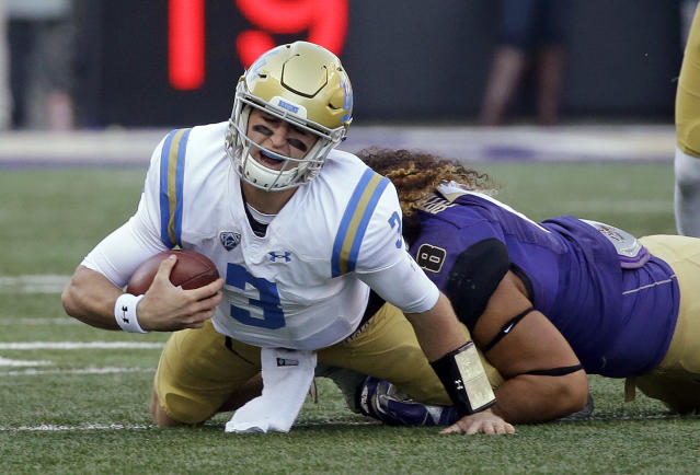 Josh Rosen's Bruins are struggling this season as they're 4-5 and are ahead of only Colorado in the Pac-12 South Division. (AP)