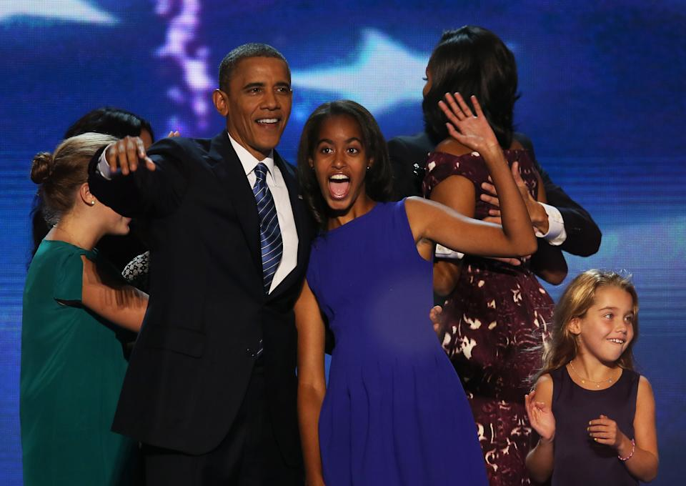 Barack Obama and daughter Malia during his campaign.Getty Images