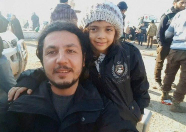 A still picture taken on Dec 19, 2016 from a welfare video posted by IHH, shows a still sketch of Syrian lady who tweeted from Aleppo, Bana Alabed, posing with IHH assist workman Burak Karacaoglu in al-Rashideen, Syria. (Photo: IHH/Handout around Reuters)