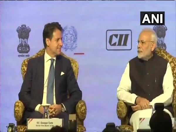 Prime Minister Narendra Modi and his Italian counterpart Giuseppe Conte at India-Italy Technology Summit in October 2018. (File photo/ANI)