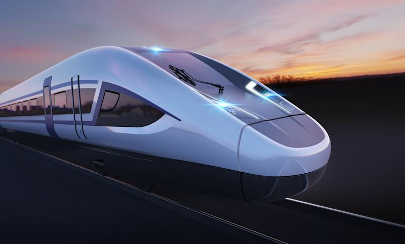 A concept image showing a proposed design for a HS2 train (Picture: PA)