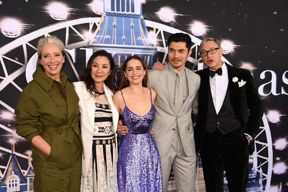 Emma Thompson, Michelle Yeoh, Emilia Clarke, Henry Golding and Paul Feig at the Last Christmas premiere in New York (Photo: SIPA USA/PA Images)