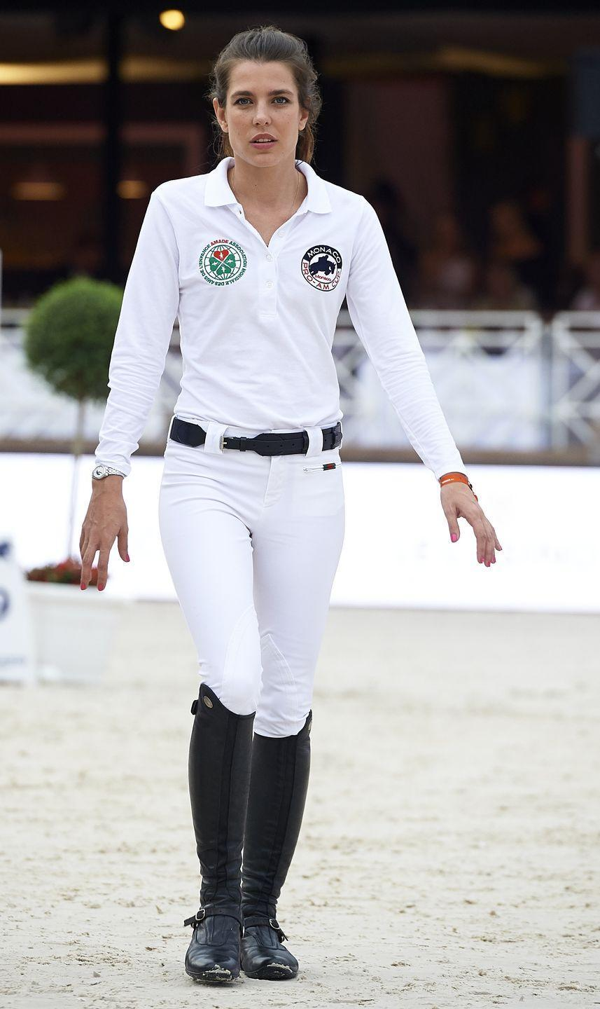 <p>An equestrian, Charlotte brings her style into the ring with sleek and elegant riding looks. The young royal often opts for all-white riding outfits, complete with Gucci and Hermès accessories. </p>