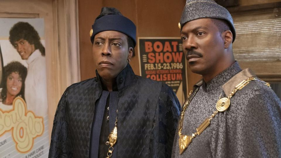 Arsenio Hall and Eddie Murphy in 'Coming 2 America' (Amazon)