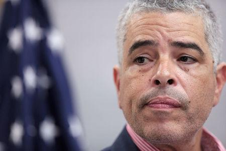 FILE PHOTO: Ricardo Ramos, executive director of the Electric Power Authority of Puerto Rico (PREPA), attends a news conference, in San Juan, Puerto Rico November 2, 2017.  REUTERS/ Alvin Baez/File Photo