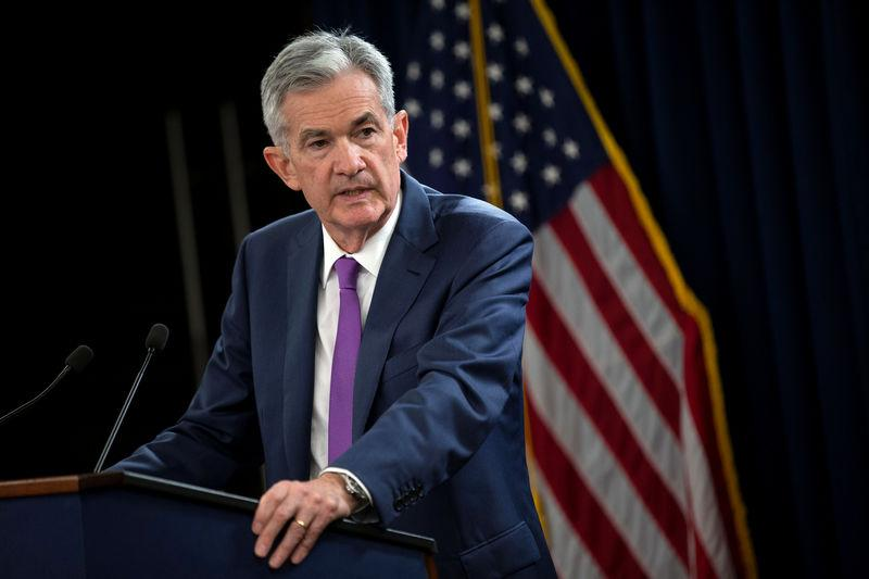 FILE PHOTO: U.S. Federal Reserve Chairman Jerome Powell holds a news conference