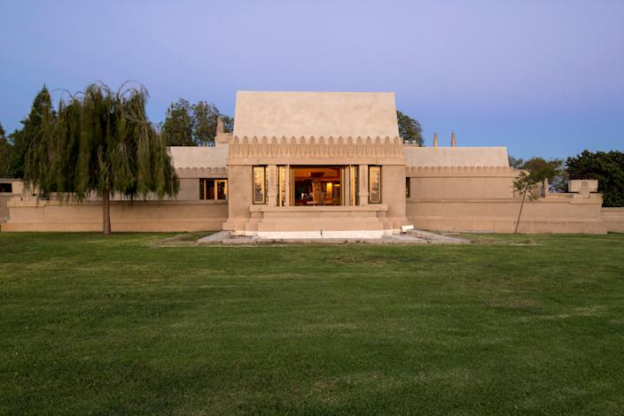 "<div class=""caption""> The Hollyhock House in East Hollywood, Los Angeles. It was added to the UNESCO World Heritage List in 2019. </div> <cite class=""credit"">Photo: Joshua White</cite>"