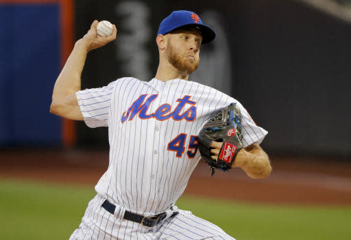 """<a class=""""link rapid-noclick-resp"""" href=""""/mlb/teams/nym"""" data-ylk=""""slk:New York Mets"""">New York Mets</a>' <a class=""""link rapid-noclick-resp"""" href=""""/mlb/players/9124/"""" data-ylk=""""slk:Zack Wheeler"""">Zack Wheeler</a> is starting to look more interesting for fantasy purposes (AP Photo)."""