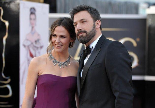 The real Ben Affleck and Jennifer Garner on the Oscars red carpet.