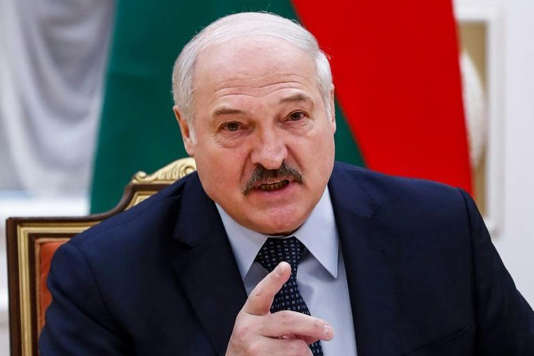 President Alexander Lukashenko has jailed hundreds and cracked down on media and rights groups since protests broke out following a disputed election a year ago