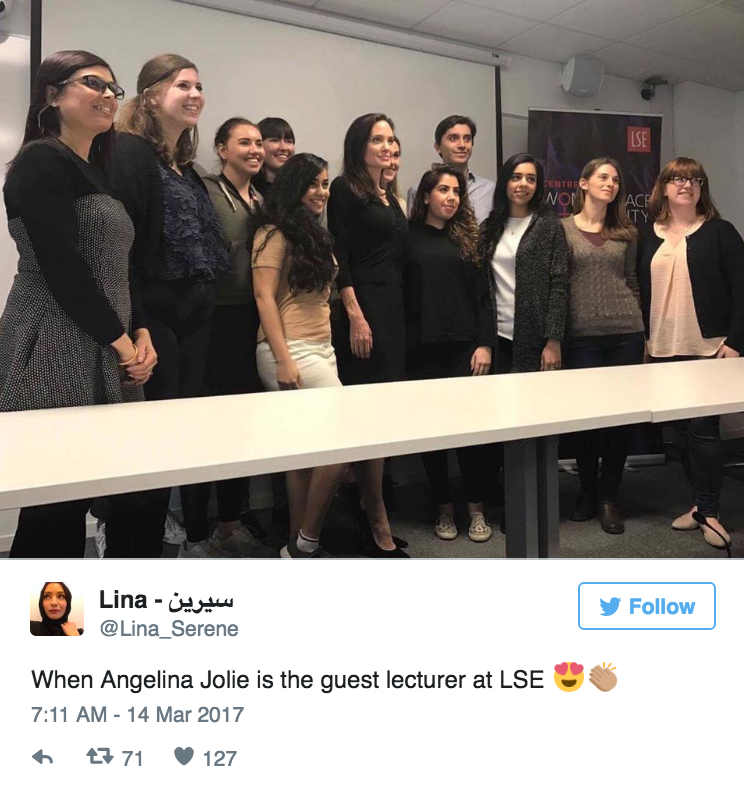 Angelina Jolie Was Nervous about Her First Lecture as a Professor