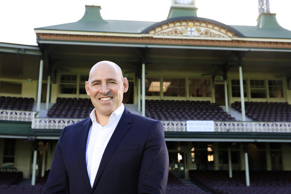Seen here, Nick Hockley during his unveiling as Cricket Australia CEO.
