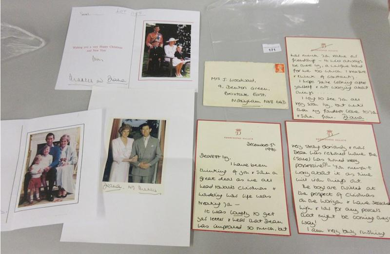 Princess Diana thank you notes up for auction | LawrencesAuctioneers/BNPS