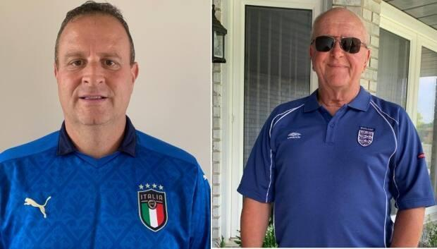 Egidio Mosca is cheering for Italy and Steve Hart is rooting for England in Sunday's Euro Cup 2020. (Submitted by Egidio Mosca and Steve Hart - image credit)