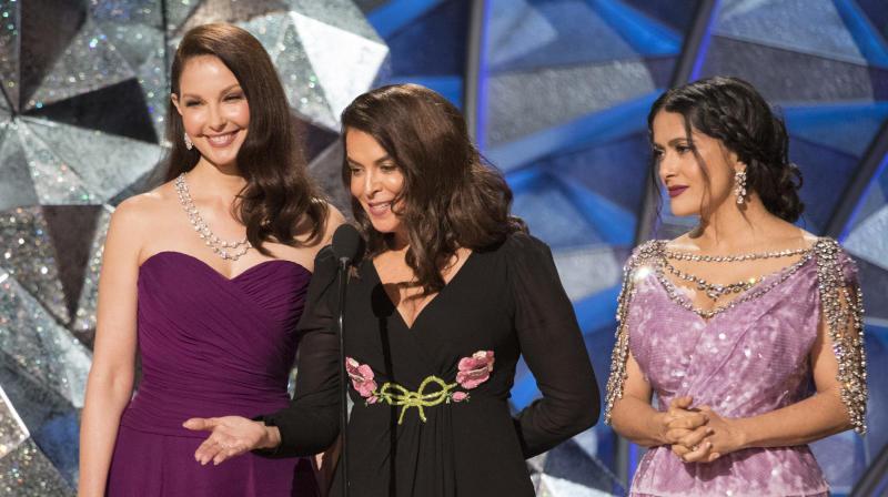 Ashley Judd, Annabella Sciorra And Salma Hayek Proclaim 'A New Path Forward'