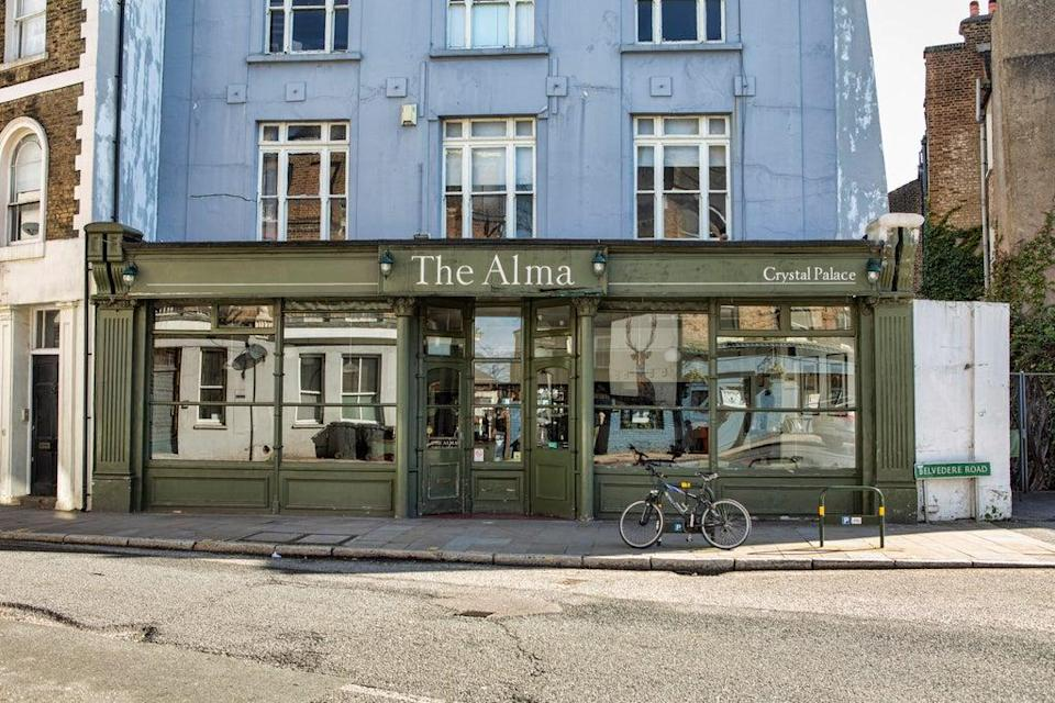 Right at the heart of the 'Triangle', The Alma has a large all-weather beer garden tucked away behind the restaurant (Adrian Lourie)
