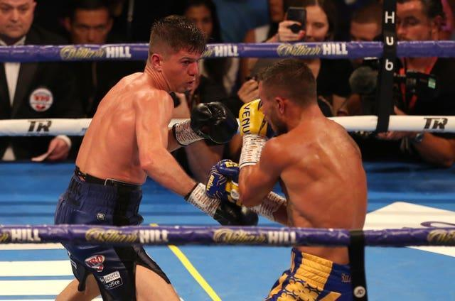 Campbell lost out to Vasiliy Lomachenko (right) for the world lightweight title