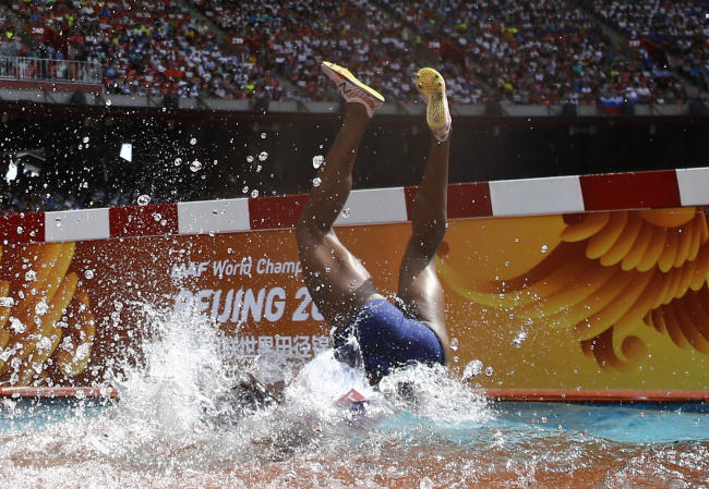 Here's how steeplechase — the wackiest event in track and field