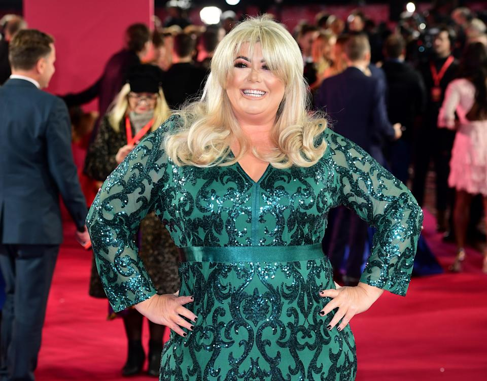File photo dated 12/11/2019 of Gemma Collins whi has compared herself to Marilyn Monroe ahead of the launch of her new TV programme.