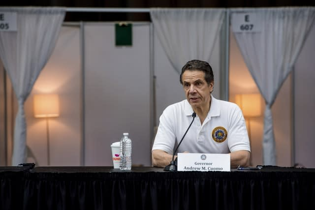 Governor Andrew Cuomo criticised Mr Trump's suggestion (Darren McGee/Office of Governor Andrew M Cuomo/AP)