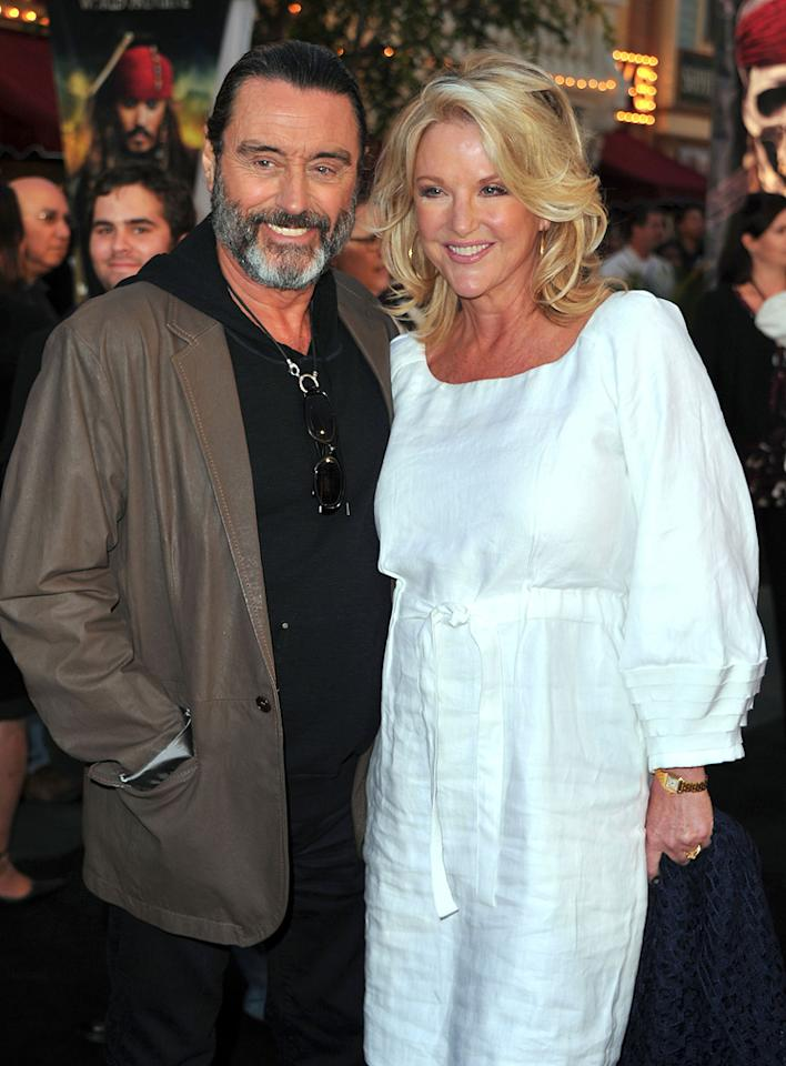 """<a href=""""http://movies.yahoo.com/movie/contributor/1800032720"""">Ian McShane</a> and <a href=""""http://movies.yahoo.com/movie/contributor/1809076160"""">Gwen Humble</a> attend the Disneyland premiere of <a href=""""http://movies.yahoo.com/movie/1809791042/info"""">Pirates of the Caribbean: On Stranger Tides</a> on May 7, 2011."""