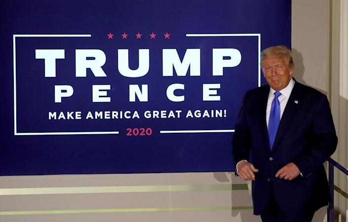 U.S. President Donald Trump takes the stage on election night in the East Room of the White House in the early morning hours of November 04, 2020 in Washington, DC. (Chip Somodevilla/Getty Images)