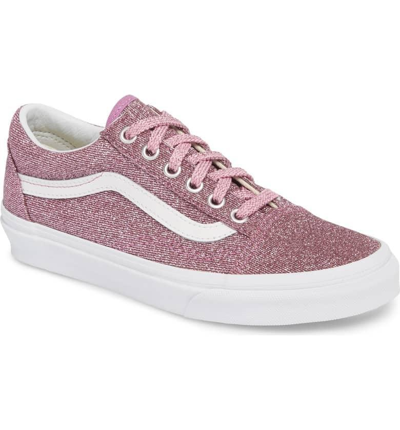 "<p>Vans are in the midst of a comeback, and these <a rel=""nofollow noopener"" href=""https://www.popsugar.com/buy/Vans%20UA%20Old%20Skool%20Glitter%20Low%20Top%20Sneaker-366335?p_name=Vans%20UA%20Old%20Skool%20Glitter%20Low%20Top%20Sneaker&retailer=shop.nordstrom.com&price=60&evar1=moms%3Aus&evar9=45367395&evar98=https%3A%2F%2Fwww.popsugar.com%2Fmoms%2Fphoto-gallery%2F45367395%2Fimage%2F45367418%2FVans-UA-Old-Skool-Glitter-Low-Top-Sneaker&list1=holiday%2Cgift%20guide%2Cparenting%20gift%20guide%2Cgifts%20for%20kids%2Ckid%20shopping%2Ctweens%20and%20teens%2Cgifts%20for%20teens&prop13=desktop&pdata=1"" target=""_blank"" data-ylk=""slk:Vans UA Old Skool Glitter Low Top Sneaker"" class=""link rapid-noclick-resp"">Vans UA Old Skool Glitter Low Top Sneaker</a> ($60) are a sparkly edition to your tween's shoe collection (<a rel=""nofollow noopener"" href=""https://www.popsugar.com/moms/Pink-Glitter-Vans-Sneakers-Kids-45288917"" target=""_blank"" data-ylk=""slk:they also come in little kid sizes"" class=""link rapid-noclick-resp"">they also come in little kid sizes</a>!).</p>"