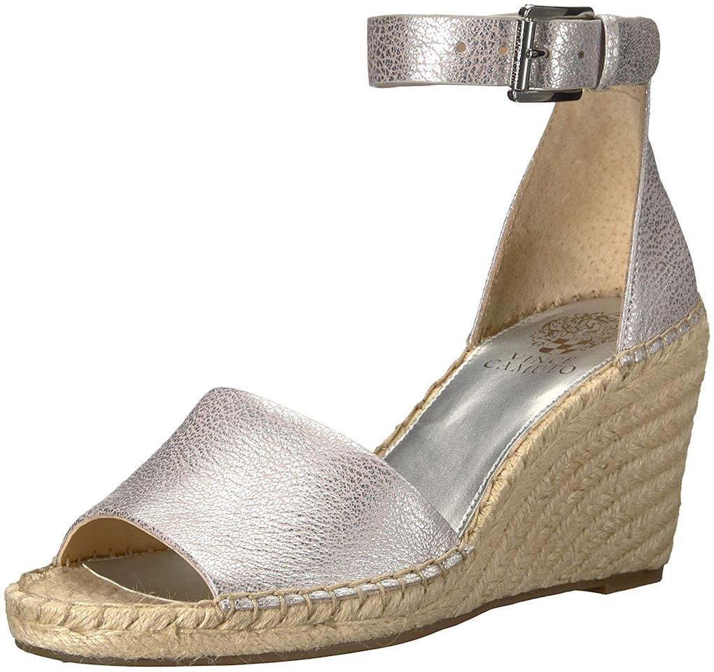 "<strong>Buy It!</strong> Vince Camuto Leera Espadrille Wedge Sandal, $68.99 (orig. $99); <a href=""https://www.amazon.com/Vince-Camuto-Womens-Espadrille-Sandal/dp/B075FQYHRQ/ref=as_li_ss_tl?_encoding=UTF8&m=ATVPDKIKX0DER&pf_rd_i=13923991011&pf_rd_m=ATVPDKIKX0DER&pf_rd_p=56546dee-716c-44e5-8152-503976341817&pf_rd_r=H220P5DTBHXFSEKZZM02&pf_rd_s=merchandised-search-16&pf_rd_t=101&qid=1562871099&refinements=p_6:ATVPDKIKX0DER,p_85:2470955011&rnid=2470954011&rps=1&s=apparel&sr=1-351&th=1&psc=1&linkCode=ll1&tag=poamzfshoesaleprimeday2019kphillips0719-20&linkId=9994e7e0a73e7a4fe6967ed79bc135c0&language=en_US"" target=""_blank"">amazon.com</a>"