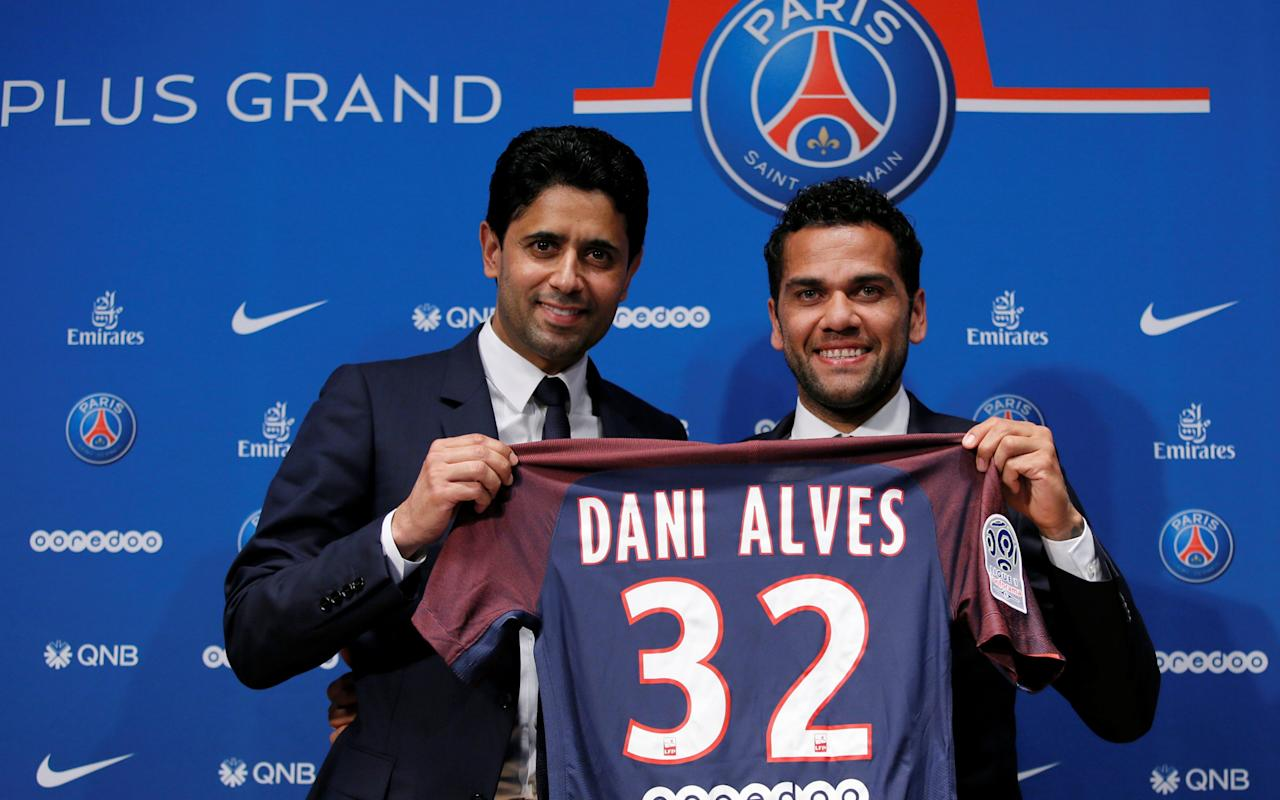"Dani Alves has claimed he snubbed Pep Guardiola because he believes Paris St-Germain offer a better chance of winning silverware than Manchester City. But City believe Alves's head was turned by PSG's promise of a two year contract worth almost double the £120,000 a week they were offering.   PSG are purported to be paying the Brazil right back around £230,000 a week - or almost £24 million over two years - a sum City were unwilling to match for a 34-year-old whom they had identified mainly as cover for their another target, Kyle Walker, of Tottenham.   Had City paid such a salary, it would have put Alves close to the top of City's wage structure and potentially other created problems.   Nonetheless, City were left blindsided by PSG's dramatic late move for Alves having been convinced that he would join them and reunite with Guardiola, under whom he played at Barcelona.   And the news has left City on the back foot in their pursuit of Walker and will dramatically boost Tottenham's hopes for a fee close to their £50 million valuation of the England right back.   Daniel Levy is holding out for a huge fee for Kyle Walker Credit: REUTERS Tottenham chairman Daniel Levy is determined to extract a high price from City for Walker and his position has only been strengthened by the Alves developments with Guardiola desperate for a new right back.   Alves terminated his contract with Juventus early this month and believes PSG offer a better chance than City of adding to the three Champions League titles he won with Barcelona. Alves's new wife, Joana Sanz, whom he married in Ibiza last Saturday, is also thought to have favoured a move to Paris over Manchester.   ""There's a very interesting project in Paris,"" he said. ""I have friends here, I'm a man who loves challenges.   Dani Alves wants to be 'a champion' at PSG Credit: AFP ""If Pep Guardiola and Manchester City feel hurt, I am sorry. But I have come here to be a champion. ""I've had the pleasure of winning the Champions League three times and I want to bring my experience here. ""The President had a great power of persuasion. I like to make history. We can write it together here. ""The work that the club has been doing over the past several years is very encouraging. It's an ambitious team."" City have agreed a deal with Brazilian club Vasco da Gama to sign highly rated teenage midfielder Douglas Luiz for £10.7 million.   City have been tracking Luiz since last year and have now moved to secure the 19-year-old's services.  It is expected that Luiz, a Brazilian Under-20 international, will initially be loaned out, probably to Spanish club Girona in whom City are about to acquire a near 50 per cent stake, rather than immediately join Guardiola's first team squad.   Newcastle United, Sheffield Wednesday, Fulham and Preston North End are all interested in signing City defender Tosin Adarabioyo on a season long loan. Adarabioyo has just signed a new contract with City worth at least £30,000 a week but the player is unlikely to feature much for the club next season and wants to experience in the Premier League or Championship."