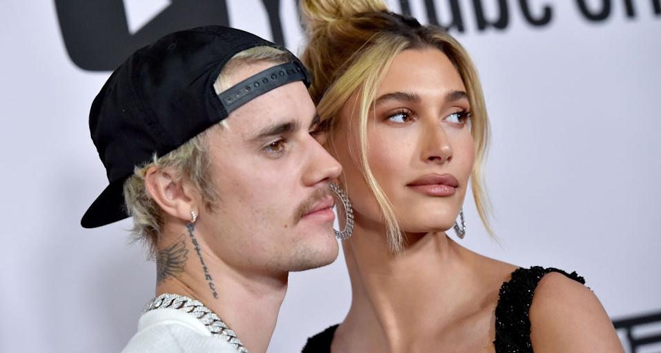 """Hailey Bieber says she has felt """"happier"""" while self-isolating with husband, Justin Bieber. (Photo by Axelle/Bauer-Griffin/FilmMagic)"""