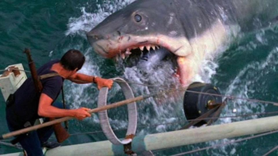 The climactic fight from Jaws between Brody and the shark.