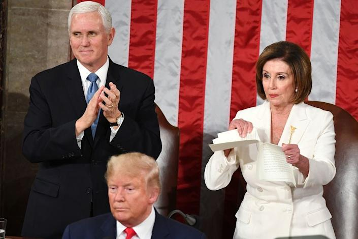nancy pelosi state of the union rips speech
