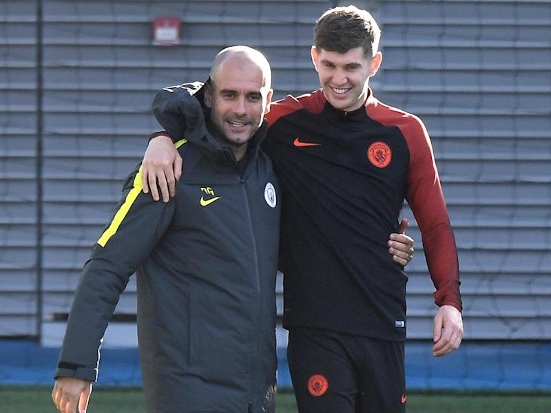 Guardiola has been impressed with Stones' 'balls' (AFP/Getty)