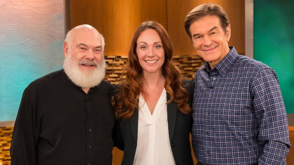 Grace appears on US television, including on The Dr Oz Show, which is hosted by cardiothoracic surgeon Mehmet Oz (right)
